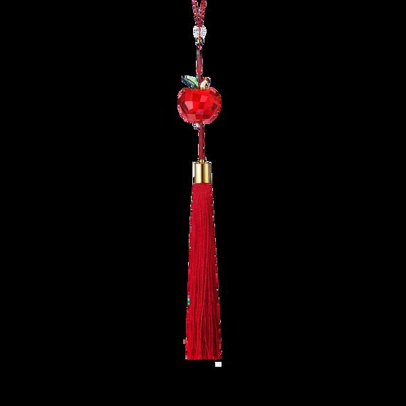 زينة على شكل تفاحة حمراء