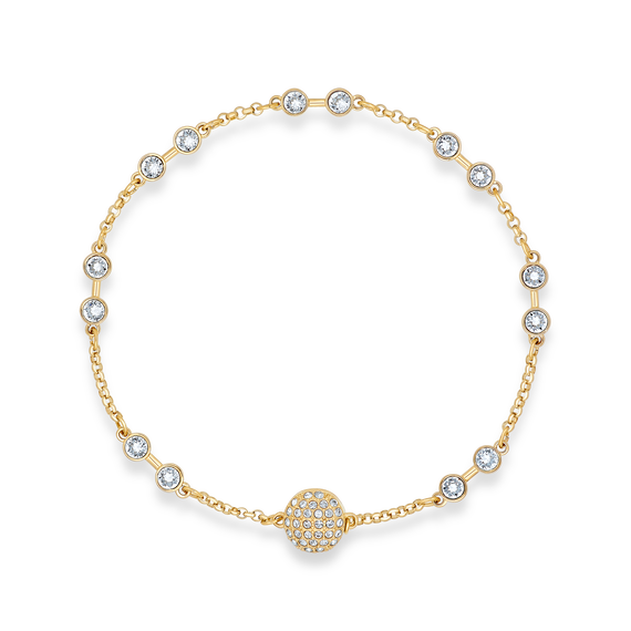 سوار Swarovski Remix، لون أبيض، طلاء باللون الذهبي