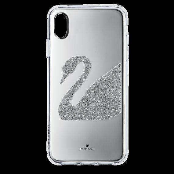 غطاء الهاتف الذكي iPhone® XS Max ، Swan ، رمادي