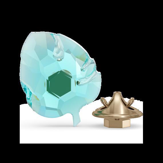 مغناطيس بتصميم ورقة شجر من Jungle Beats، لون أزرق، حجم صغير