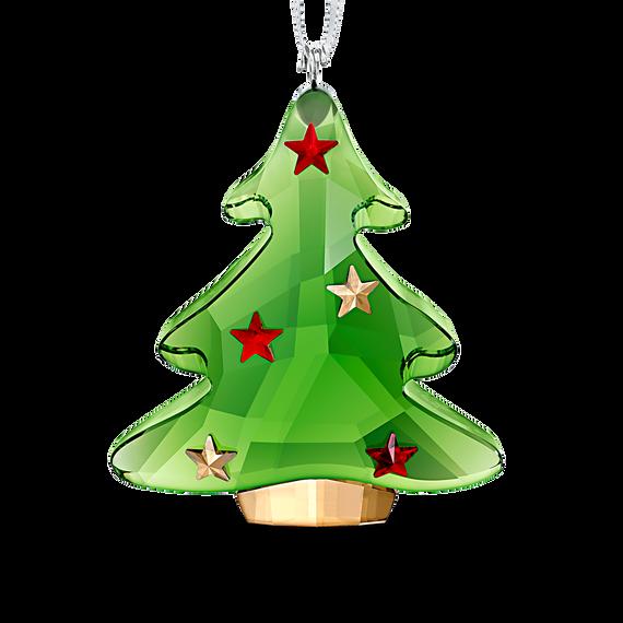 زينة متدلية على شكل شجرة عيد الميلاد الخضراء